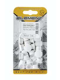 Заглушки декоративные Element, 12 мм, белые, 30 шт.