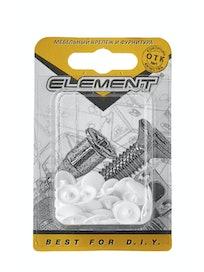 Заглушки на шуруп Element №2, белые, 40 шт.