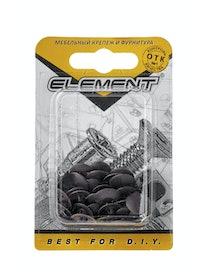 Заглушки на шуруп Element №2, темно-коричневые, 40 шт.