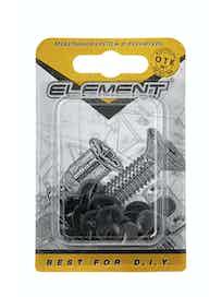 Заглушки на шуруп Element №2, черные, 40 шт.