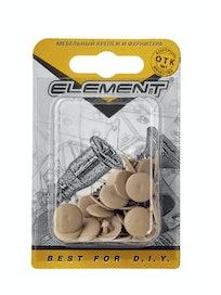 Заглушки на шуруп Element №3, темно-бежевые, 40 шт.