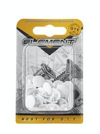 Заглушки на шуруп Element №3, белые, 40 шт.