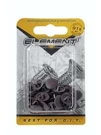 Заглушки на шуруп Element №3, темно-коричневые, 40 шт.