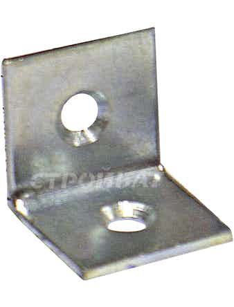 Уголки мебельные оцинк. 20х20х20х2 с шур.(4 шт)