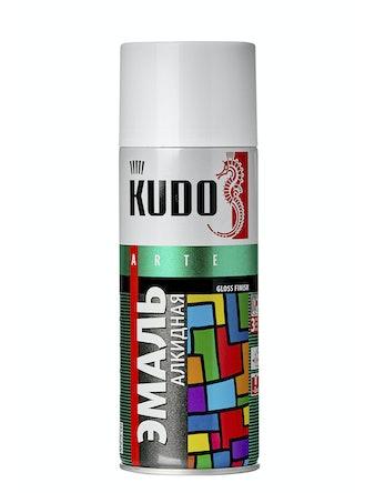 Эмаль аэрозольная белая глянцевая KUDO 1001, 0,52 л