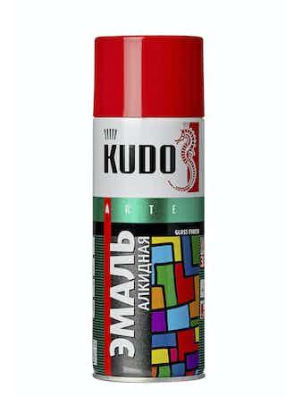 Эмаль аэрозольная вишневая KUDO 1004, 0,52 л