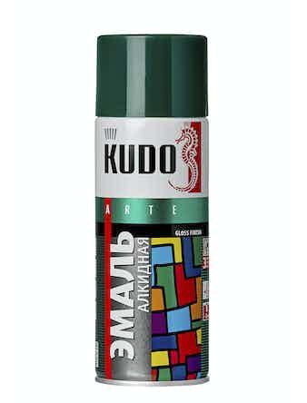 Эмаль аэрозольная темно-зеленая KUDO 1007, 0,52 л
