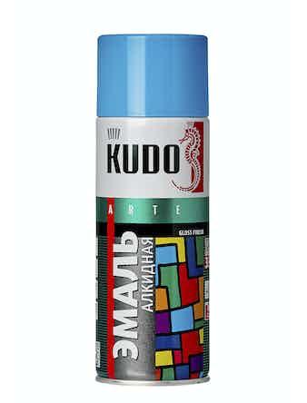 Эмаль аэрозольная голубая KUDO 1010, 0,52 л
