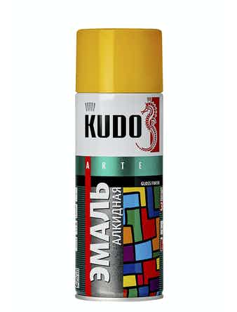 Эмаль аэрозольная желтая KUDO 1013, 0,52 л