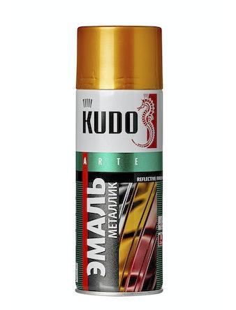 Эмаль аэрозольная металлик золото KUDO 1028, 0,52 л