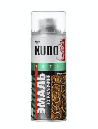Эмаль аэрозольная Kudo 3010 молотковая по ржавчине, серебристо-голубая, 0,52 л