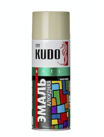 Эмаль аэрозольная светло-серая KUDO 1017, 0,52 л