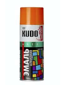 Эмаль аэрозольная оранжевая KUDO 1019, 0,52 л