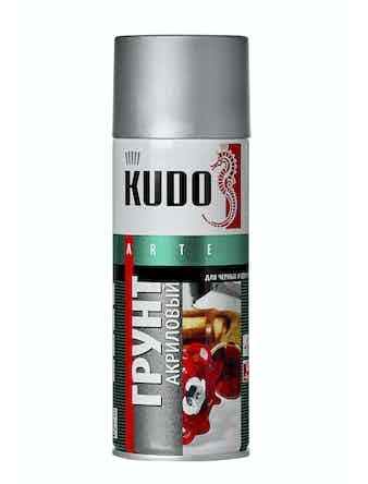 Грунт аэрозольный акриловый серый KUDO 2101, 0,52 л
