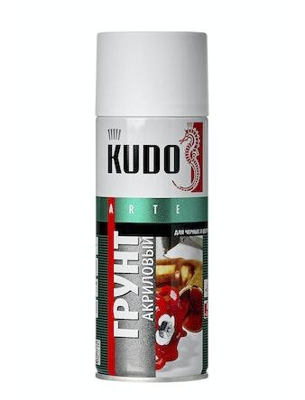 Грунт аэрозольный Kudo 2104, акриловый белый, 0,52 л