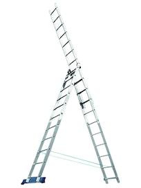 Лестница трехсекционная алюминиевая, 3 x 10 ступеней