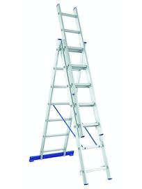 Лестница трехсекционная алюминиевая, 3 x 11 ступеней