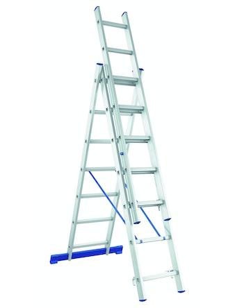 Лестница трехсекционная алюминиевая, 3 x 12 ступеней