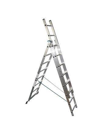 Лестница трехсекционная FXA, алюминий, 3 x 8