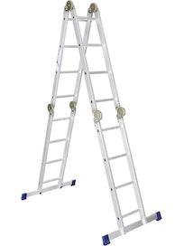 Лестница шарнирная алюминиевая, 4х3 Сибртех