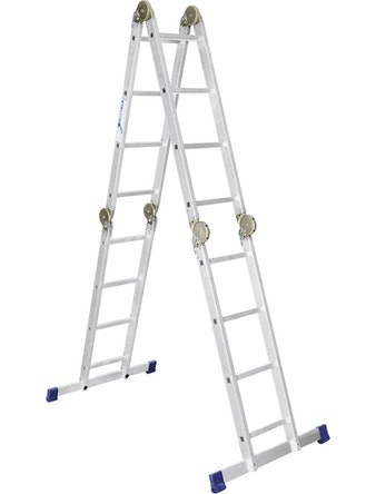 Лестница шарнирная алюминиевая Сибртех, 4 х 4