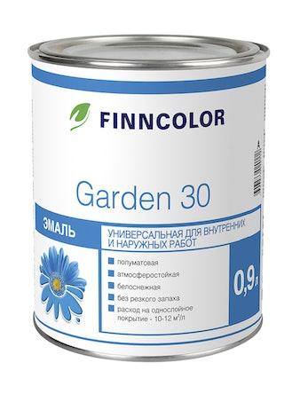 Эмаль Garden 30 полумат.А 0,9л Finncolor