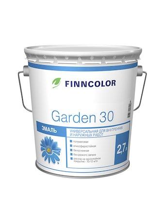 Эмаль Garden 30 полумат.А 2,7л Finncolor