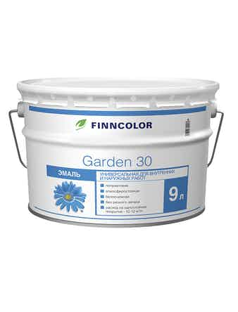 Эмаль Garden 30 полумат.А 9л Finncolor