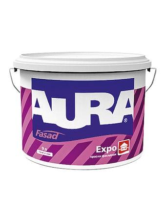 Краска фасадная Aura Fasad Expo, белая, 9 л