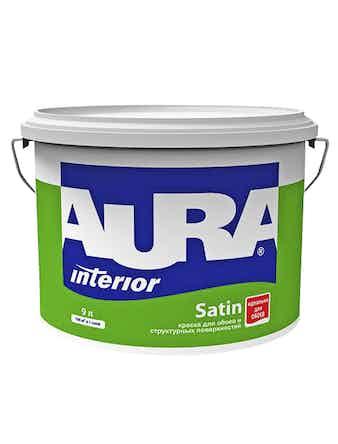 Краска водно-дисперсионная для обоев Aura Satin, 9 л