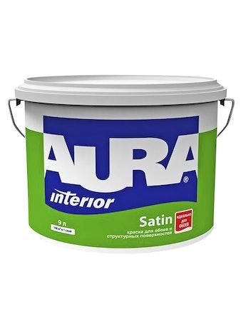 Краска для обоев Aura Satin, матовая, 9 л