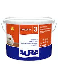 Краска для высококачественной отделки Aura Luxpro 3, матовая, основа TR, 9 л