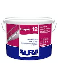 Краска моющаяся Aura Luxpro 12, полуматовая, база TR, 9 л