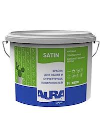 Краска для обоев Aura Satin, матовая, база TR, 9 л
