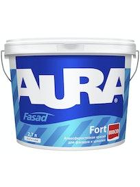 Краска фасадная Aura Fasad Fort, матовая, база TR, 2,7 л