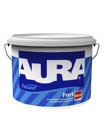 Краска водно-дисперсионая фасадная Aura Fasad Fort, база TR, 9 л