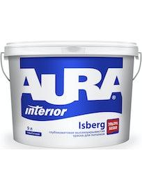 Краска водно-дисперсионная для потолка Aura Isberg 9 л