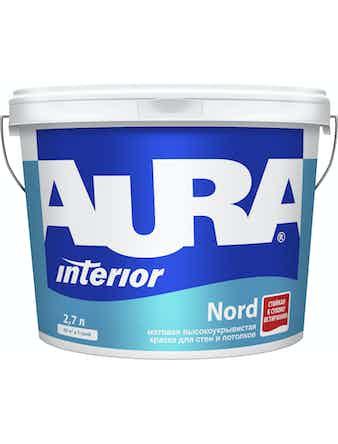 Краска в/д для стен и потолков AURA NORD 2,7л