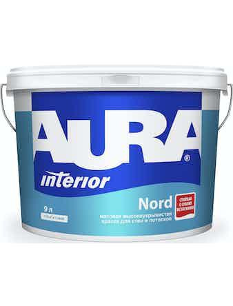 Краска водно-дисперсионная для стен и потолков Aura Nord 9 л