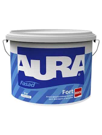 Краска водно-дисперсионная фасадная Aura Fasad Fort, 9 л