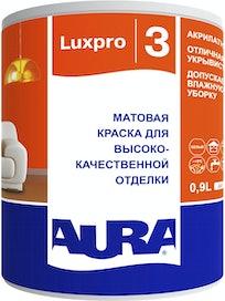 Краска моющаяся Aura Luxpro 3, матовая, основа TR, 0,9 л