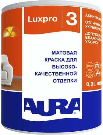 Краска в/д интерьерная AURA Luxpro 3 матовая основа TR 0,9л