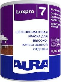 Краска моющаяся Aura Luxpro 7, шелковисто-матовая, 0,9 л