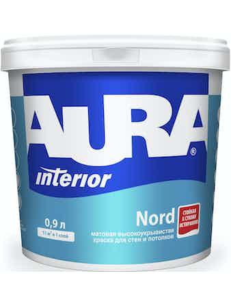 Краска в/д для стен и потолков AURA NORD 0,9л