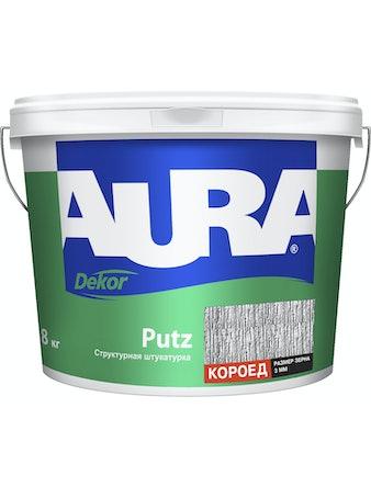 Штукатурка декоративная структурная AURA Dekor Putz короед 3мм 8кг