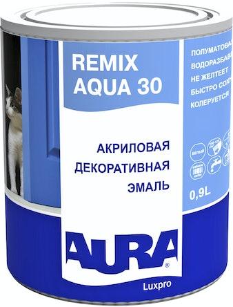 Эмаль акриловая AURA Remix Aqua 30 0,9л