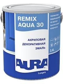 Эмаль акриловая AURA Remix Aqua 30 2,4л