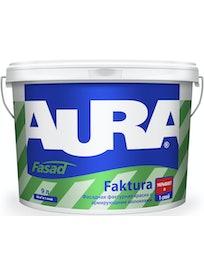Краска водно-дисперсионая фасадная фактурная Aura Fasad Faktura 9 л