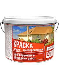 Краска водно-дисперсионная, фасадная, 14 кг