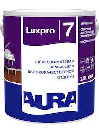 Краска моющаяся Aura Luxpro 7, шелковисто-матовая, 2,5 л